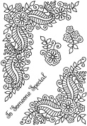 """Sweet Dixie """"Fantasy Floral Corners"""" Clear Stamp"""
