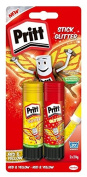 Pritt Stick Glitter Multipack / Red and yellow glitter glue stick for colourful crafting at home or at school / 2 x 20g