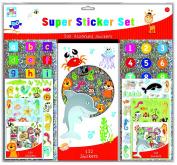 Anker Kids Create/Arts and Crafts Super Sticker Set, Plastic, Assorted Colour, 29.7 x 21 x 2 cm