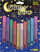 IDENA 634145 Glitter Glue 10 Colours A 10.5 ml