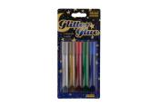 IDENA 634145 Glitter Glue 10 Colours A 10.5 ml Glitter Glue mit 10 Farben