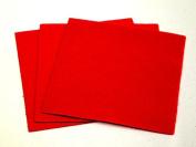 Sticky Back Self Adhesive Acrylic Felt Fabric 46cm Square Cherry Red - per sheet