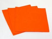 Sticky Back Self Adhesive Acrylic Felt Fabric 46cm Square Jaffa Orange - per sheet