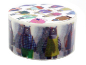 Aimez Le Style Primaute Collection Colourful Bear's Runway Washi Masking Deco Tape Semi-wide.