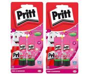 Pritt 20g Glue Stick 2 x 20g in blister packaging Green or Pink 4x 20g pink