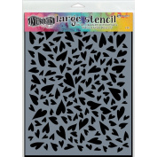 Ranger Large Hearts Dylusions Stencil
