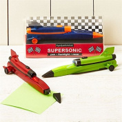 Supersonic Pull Back Race Car Pen With Built In Flashlight Torch ~ Colour Vary