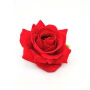 ZOONAI Women Rose Flower Hair Clip Barrette Hairpin Wedding Party Brooch