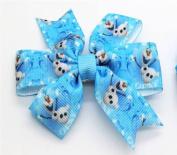 Winter Snowman Hair Barrette Clip. UK Based Seller