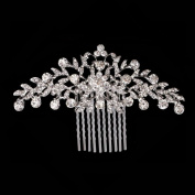 Miaoo Women Bridal Diamante Hair Comb Clip Wedding Accessories