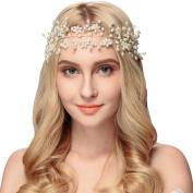 Lisianthus002 Wedding Bridal Headband with Pearls