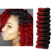Creamily Curly Wand Ombre Crochet Braids Hair Extensions Low Temperature Fibre Twist Braid Hair 50cm 70g More Colour Options