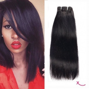 extiff – Brazilian Smooth Weave 10 Inches 25 cm – Natural Remy Human Hair Quality