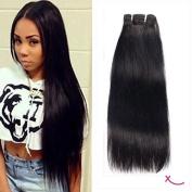 extiff – Natural Brazilian Human Hair Weave Straight/Straight – 16 inch – 40 cm – 1 Strip