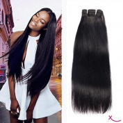 """extiff Smooth Natural Chemical Human Brazilian Hair Weave 22 55 cm – Dark Brown"