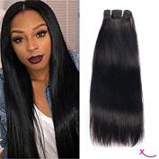 extiff – Smooth Natural Brazilian Human Hair – 24 inches 60 cm – 1 Strip