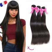 """extiff – tissgae Natural Brazilian Smooth 28 """"70 cm Hair Remy Human Hair"""