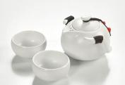 JIANGU, tea set, ceramic tea set, portable outdoor tea bags, suit, a pot of two Quik cup cup