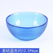 Furniture daily necessities WWYXHQC The rice bowls of rice bowls of glass to eat rice salad salad soup crystal bowls with fruit bowl of rice noodles-bowl household cutlery ,4741 Mak card blue