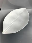 ASA 71042091 Leafs 30 x 17.5 x 2 cm White Ceramic Bowl