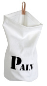 """Made In France 100% Cotton White Fabric h37x28 cm """"Bread Bag BALUCHON"""