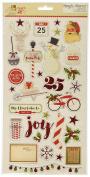 """Simple Stories 15cm x 30cm """"Claus & Co."""" Chipboard,"""