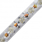 Traditional Dress Ribbon Trim Handcrafted White Apparel Tape India By The Yard