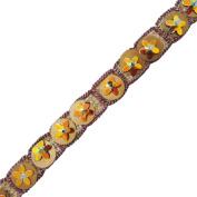 Golden Trim Sequin Ribbon Handmade Sewing Apparel Sari Border Ethnic Lace 4 Yards