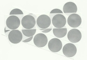 Silver 2.5cm Round Scratch Off Stickers, Pack of 50