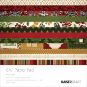 "Kaiser Craft 17cm ""Holly Night"" Paper Pad"