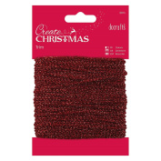 Papermania 20 m Sparkly Trim, Red
