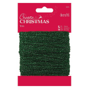 Papermania 20 m Sparkly Trim, Green