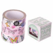 3 Roll paper Adhesive Gift Tape - Butterfly Designs