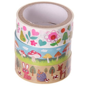 3 Roll paper Adhesive Gift Tape - Woodland Designs