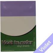 5 x Violet (476) Poliflex Premium Heat Transfer T Shirt Apparel Garment Textile Vinyl Sheets
