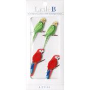 Little B Tropical Birds Mini Stickers,