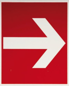 smartboxpro 245148910 FIRE SAFETY SIGN – Direction Indicator, 20 x 20 cm, Red/White