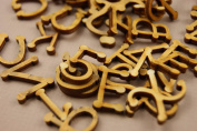 250+ Wooden Small (2cm) Adhesive Letters & Digits Craft Alphabet Decoration NF18