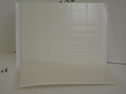 80 x White Foam Pads Self Adhesive Double Sided 25x12x2mm