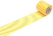 MT Casa Deco 50 mm Stripe Washi Masking Tape - Yellow
