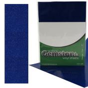 5 x A4 Self Adhesive Cobalt Blue Gemstone Metallic Glitter Sign Vinyl Sticker Art Sheets for Cardmaking & Crafts