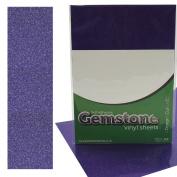 5 x A4 Self Adhesive Amethyst Gemstone Metallic Glitter Sign Vinyl Sticker Art Sheets for Cardmaking & Crafts