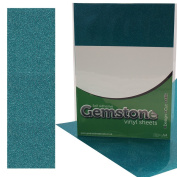 5 x A4 Self Adhesive Beryl Gemstone Metallic Glitter Sign Vinyl Sticker Art Sheets for Cardmaking & Crafts