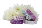 Fabric Tape Sticky Adhesive Craft Gift Wrap Handmade Decoration - Purple Set