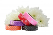Fabric Washi Tape Self Adhesive Craft Sticky Cotton - Polka Dots Set
