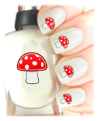 Easy to use, High Quality Nail Art Decal Stickers For Every Occasion! Ideal Christmas Present / Gift - Great Stocking Filler Mushroom