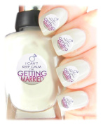 Easy to use, High Quality Nail Art Decal Stickers For Every Occasion! Ideal Christmas Present / Gift - Great Stocking Filler Hen Do- I can«t keep calm, I«m getting married!