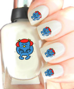 Easy to use, High Quality Nail Art Decal Stickers For Every Occasion! Ideal Christmas Present / Gift - Great Stocking Filler Mr Men - Little Miss Giggles