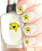 Easy to use, High Quality Nail Art Decal Stickers For Every Occasion! Ideal Christmas Present / Gift - Great Stocking Filler Mr Men - Mr Happy