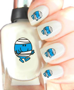 Easy to use, High Quality Nail Art Decal Stickers For Every Occasion! Ideal Christmas Present / Gift - Great Stocking Filler Mr Men - Mr Bump